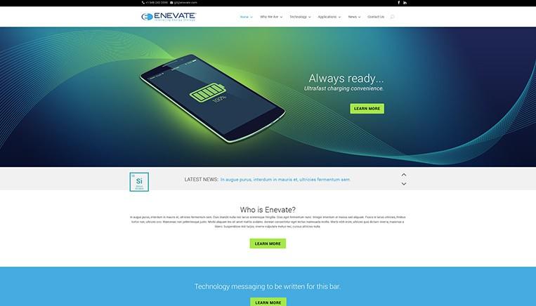 Enevate Website Example